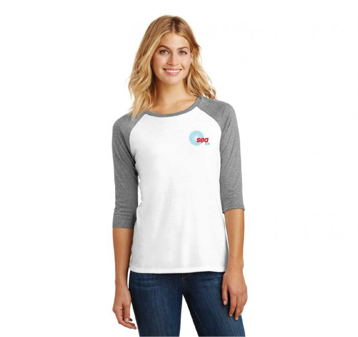 Ladies Perfect Tri 3-4 Sleeve Raglan