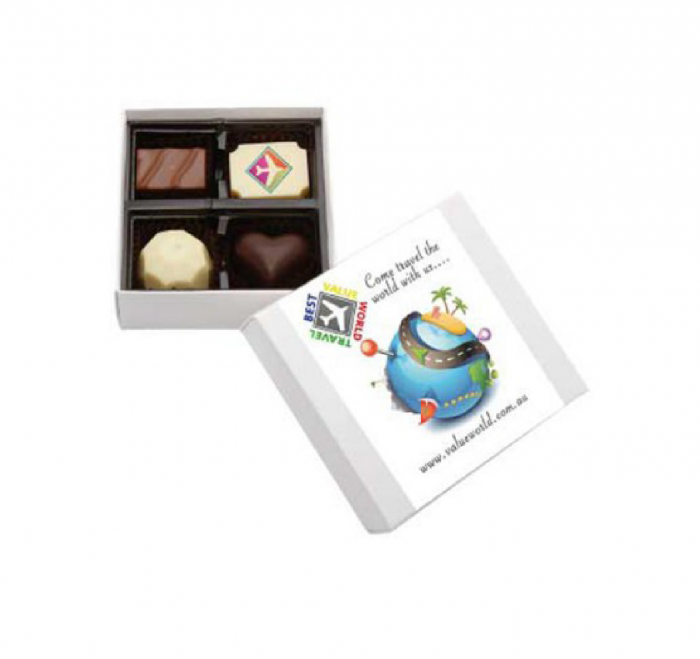 4pc Belgian Chocolate Gift Boxes