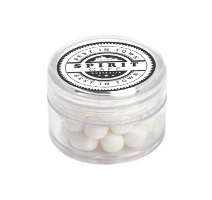 Mini Plastic Jar with Mints