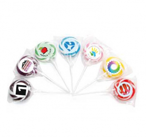 Small Swirl Single Colour Lollipop