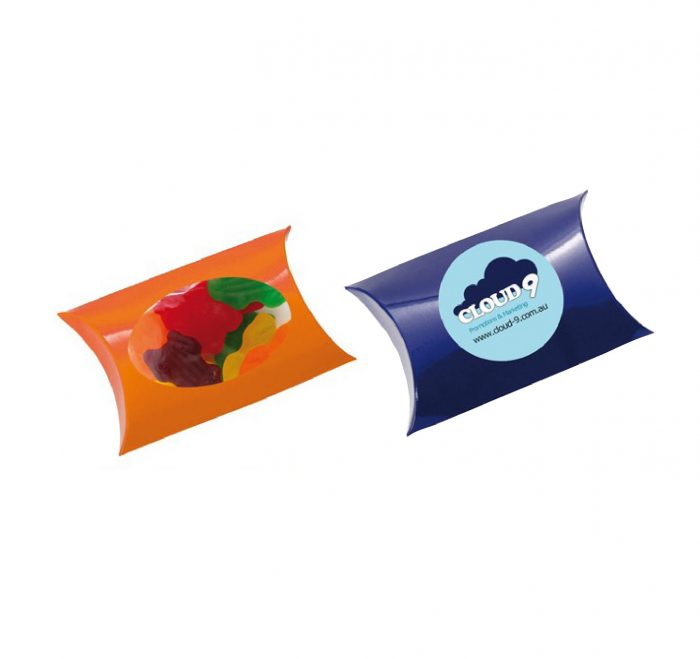 Window Pillow Box with Fruity Frogs