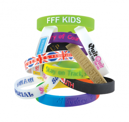 12mkm Wide Silicone Wrist Band