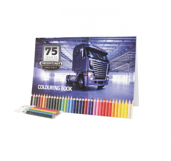 Colouring in Book with Pencils